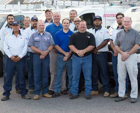 Anderson Air Corps Furnace Repair Team
