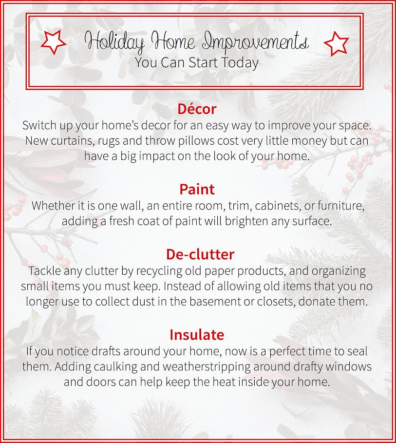 Holiday Season Home Improvements